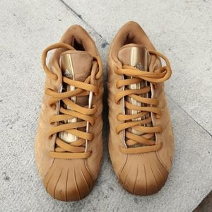adidas wheat suede sneakers